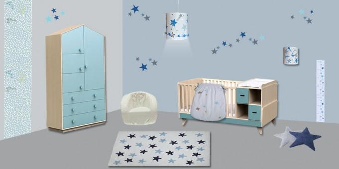 déco-chambre-enfant-étoile-nuage